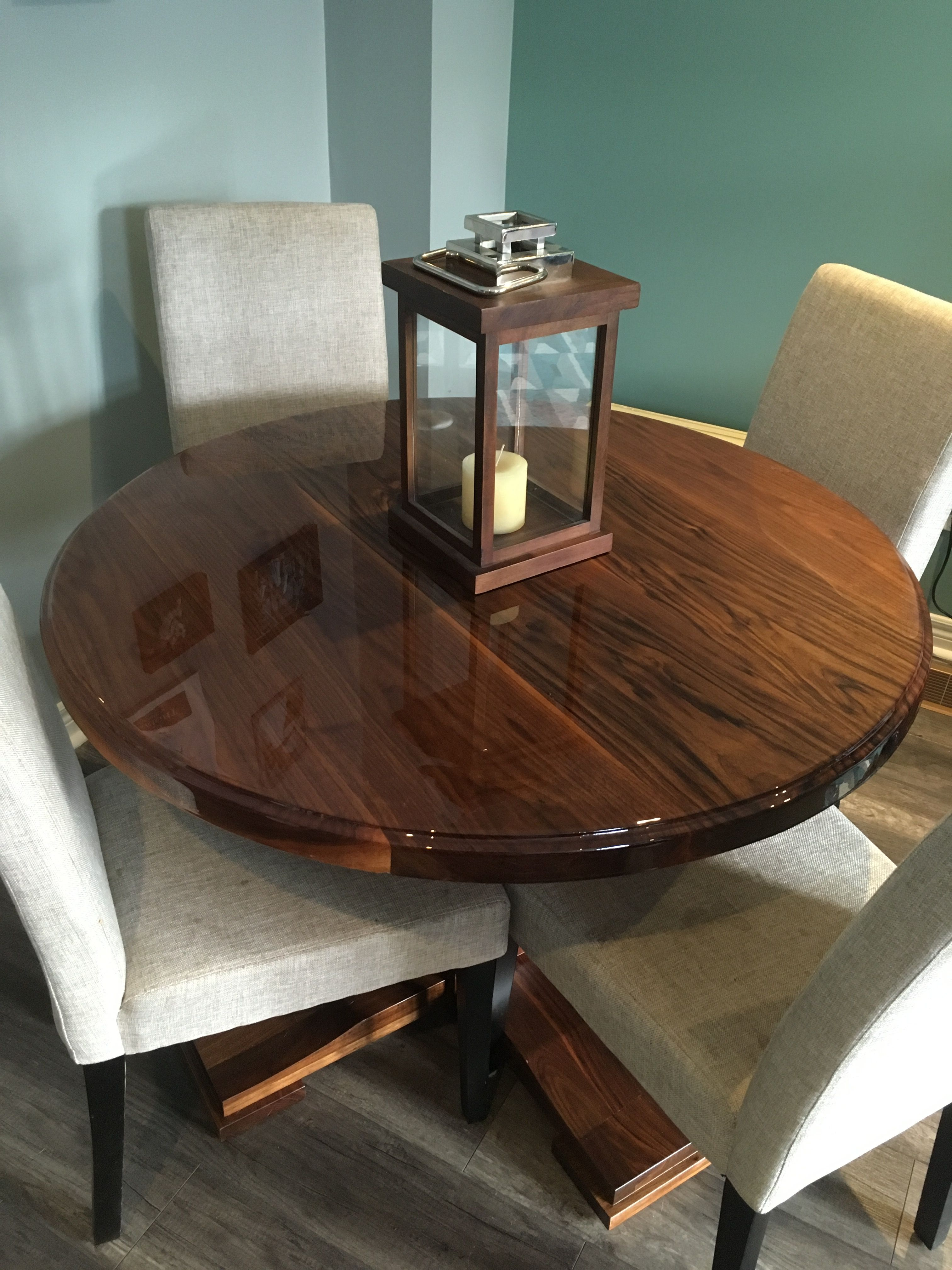Black Walnut Table with Epoxy Gloss Finish (With images ...