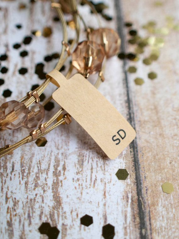 Custom sans serif initials jewelry tag label by ctdscraftsupply