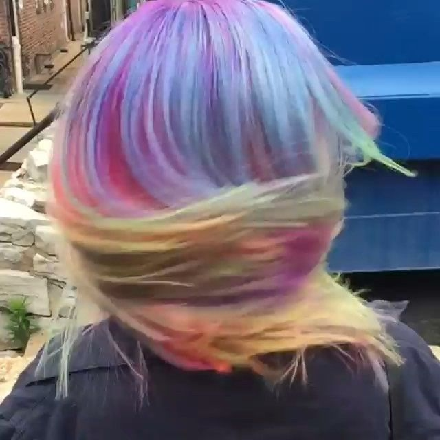 Rainbow Hair Shake Hair By The Mermaidian Of April