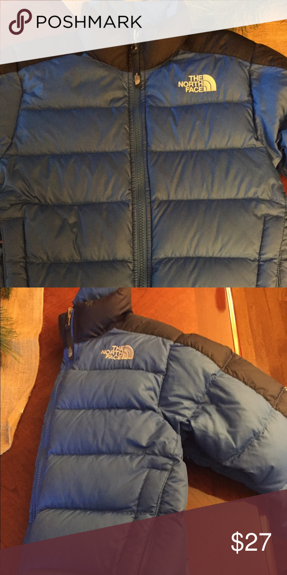 North Face Puffer Jacket Goosed down jacket- Blue and navy size 7/8 North Face Jackets & Coats Puffers