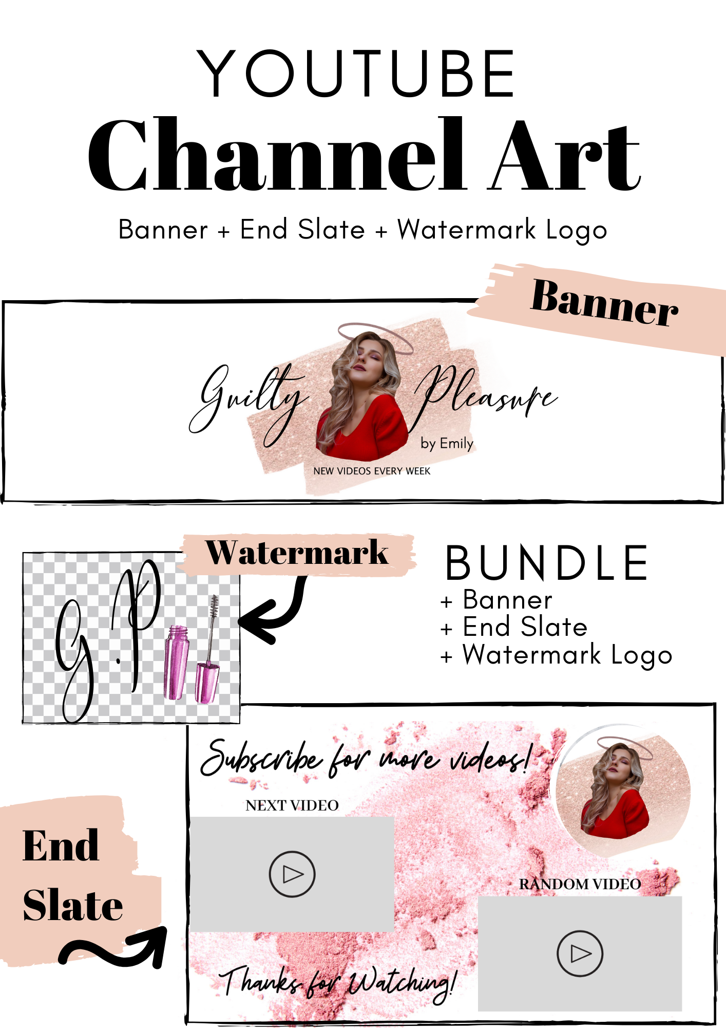 Design a beautiful youtube banner for your channel in 2020