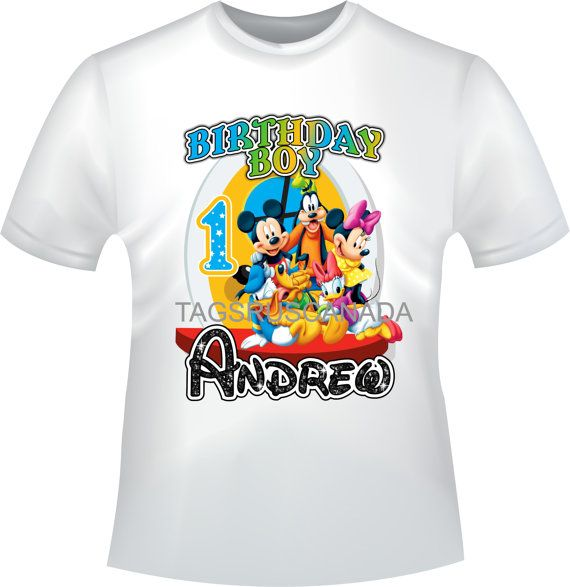 YOU PRINT Mickey Mouse Clubhouse Iron On T-Shirt by TAGSRUSCANADA