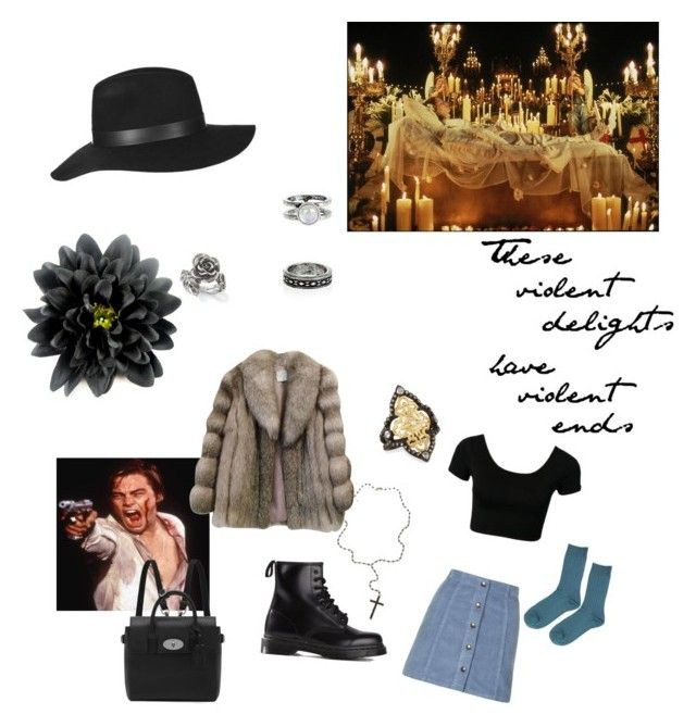 """""""Forgive me Father for I have sinned"""" by agnesainsworth on Polyvore featuring Monsoon, Topshop, Dr. Martens, Saga Furs, Natures Jewelry, Armenta, Mulberry, women's clothing, women and female"""