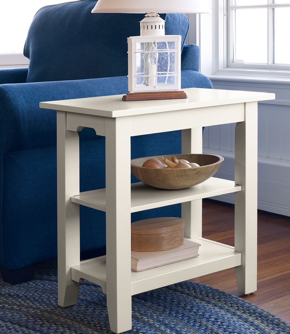 Painted Cottage Two Shelf Side Table Diy Side Table Indoor