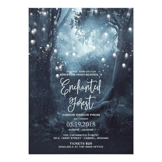 Enchanted Forest Themed Prom Invitations | Party Ideas ...