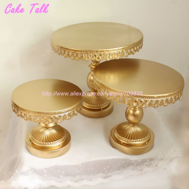Metal Iron Gold Cake Stand 8 10 12