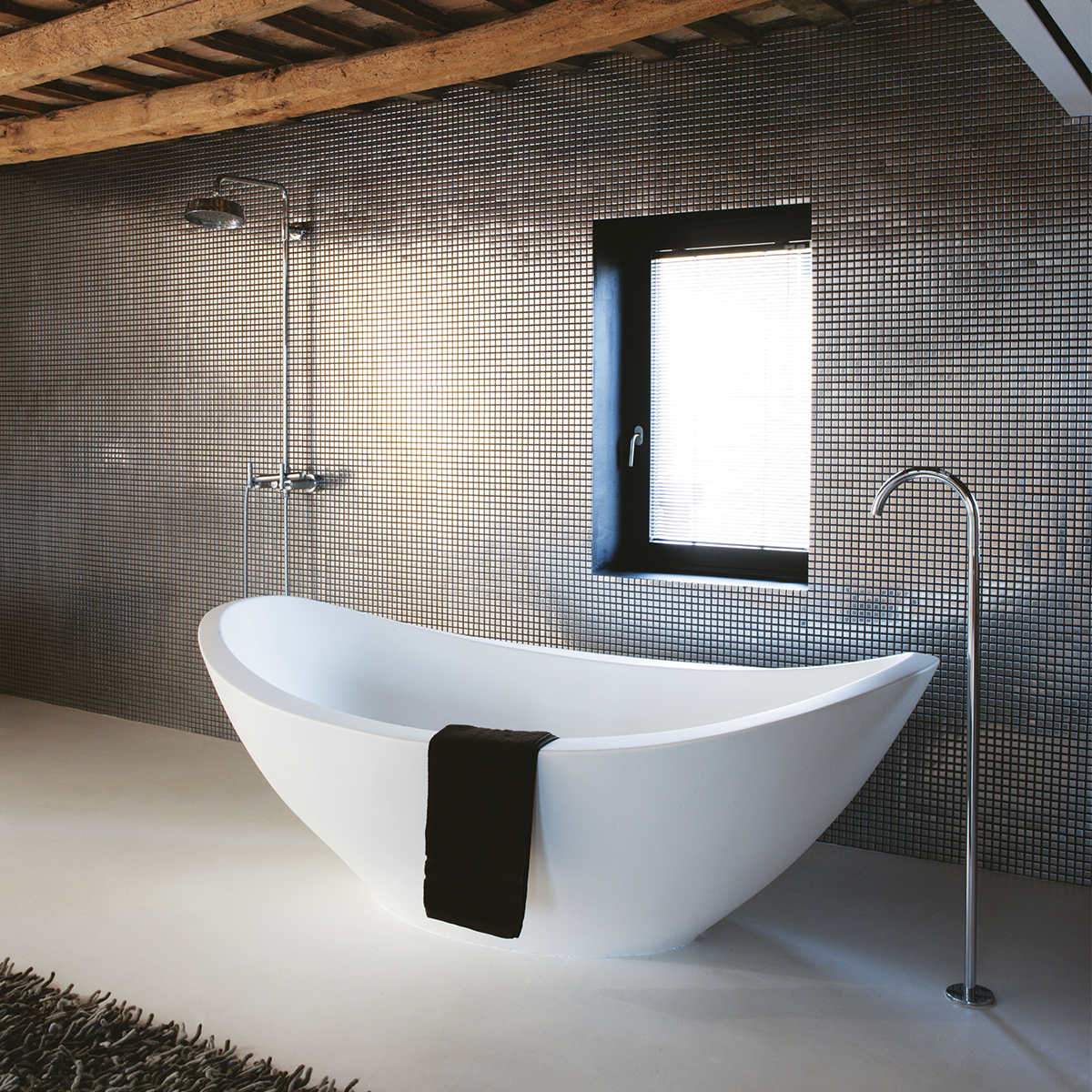 Modern Bathroom Inspiration Bycocoon Com With Mosaic Tiles