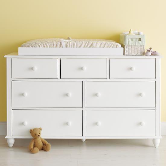Kids Dressers: Kids 7-Drawer White Jenny