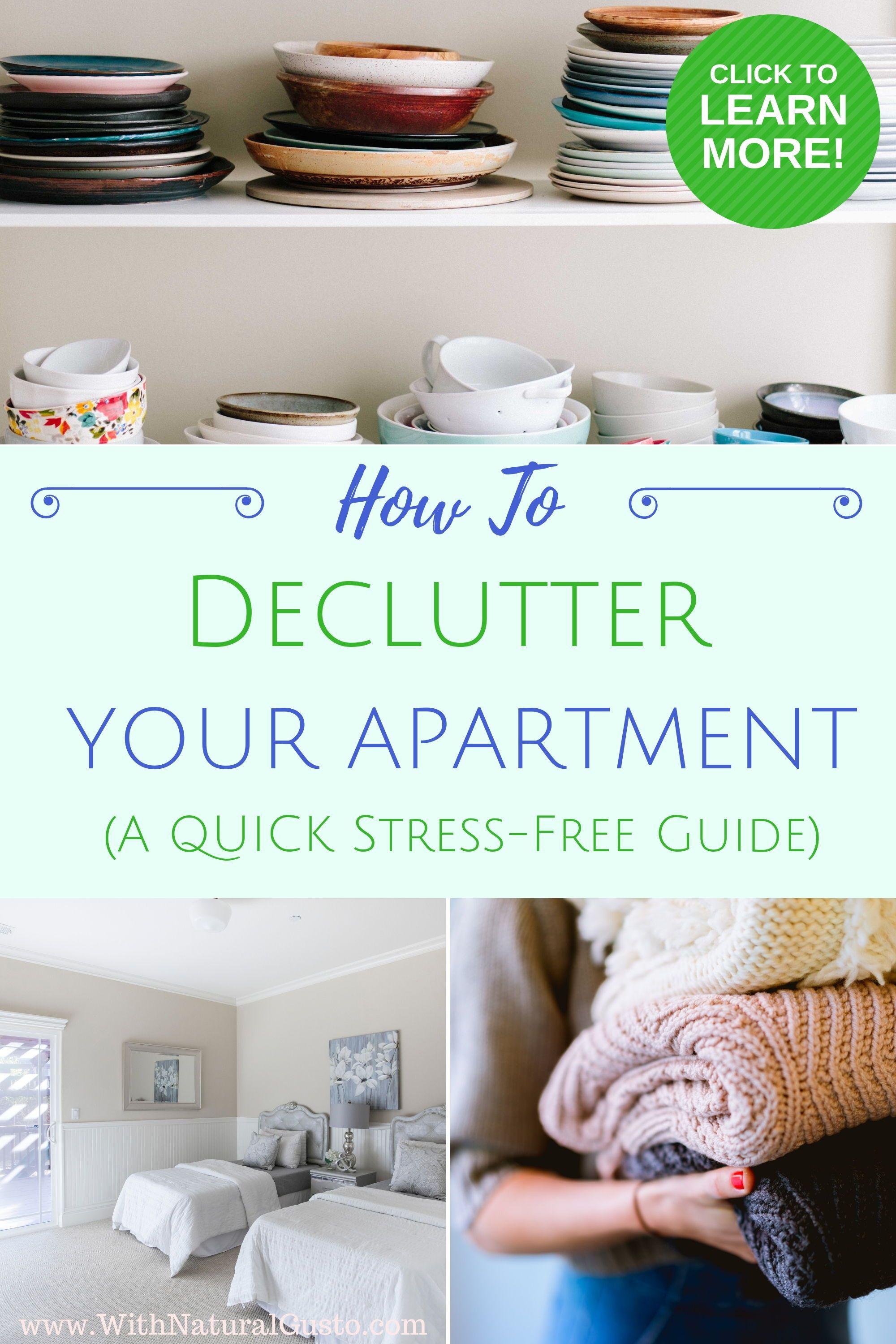Learn how to declutter your apartment, organize your home ...