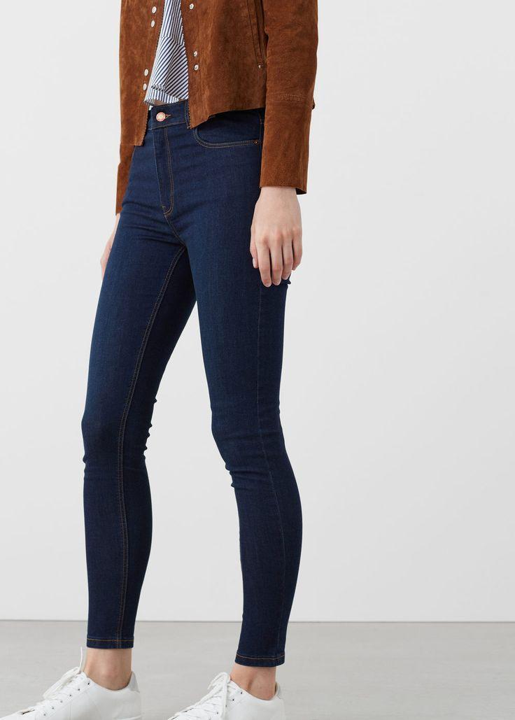 Rohrenjeans Damen Pantalones De Mezclilla Oscura Pantalones De Mezclilla Mujer Outfit Pantalon De Mezclilla