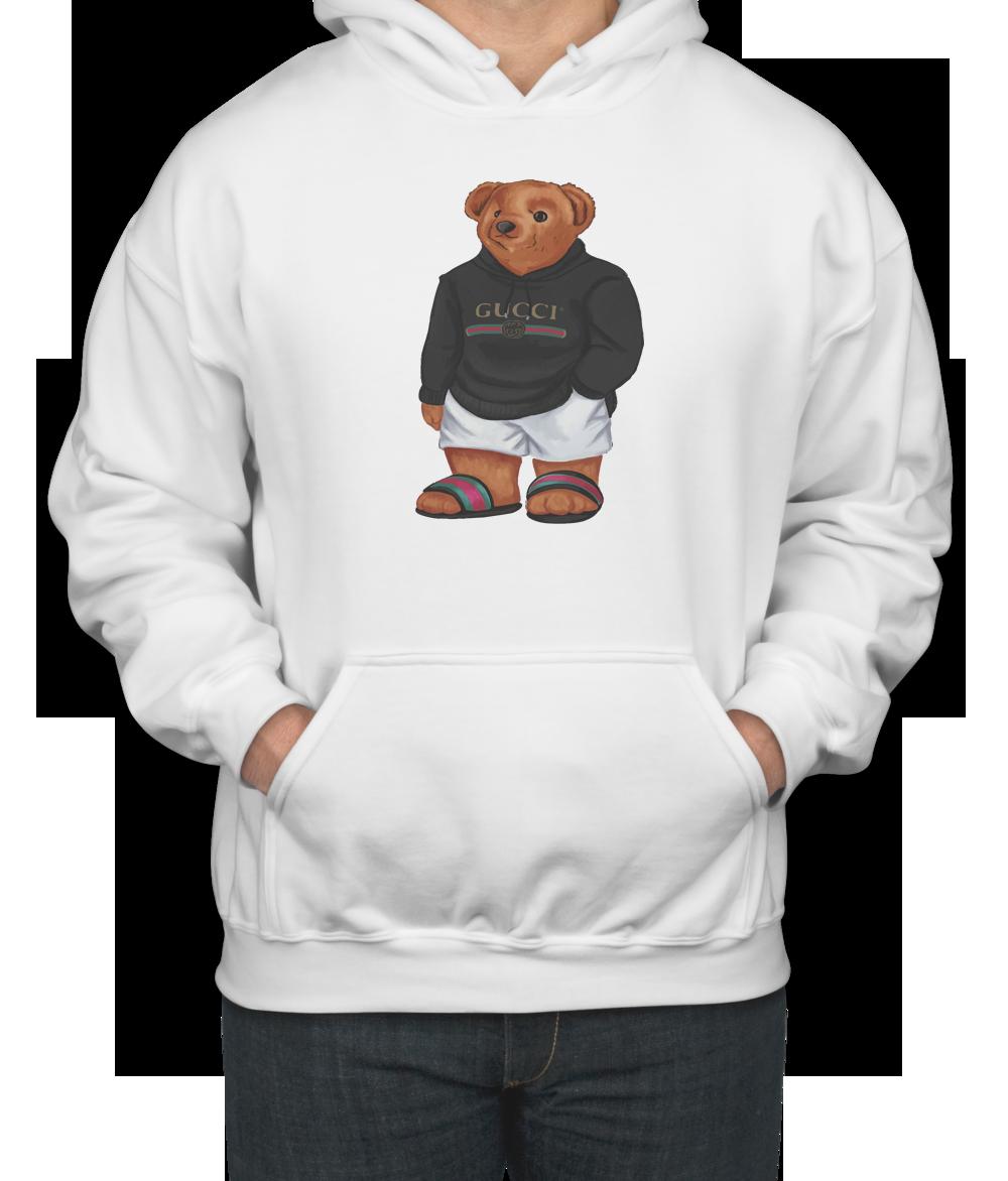 7c10c13c0 Cozy Bear Gucci Unisex Hoodie in 2019 | TEEFLAT | Gucci hoodie mens ...