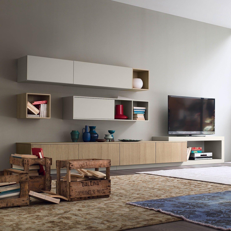 Base per soggiorno con cestoni Plan - DIOTTI.COM | Parete ...