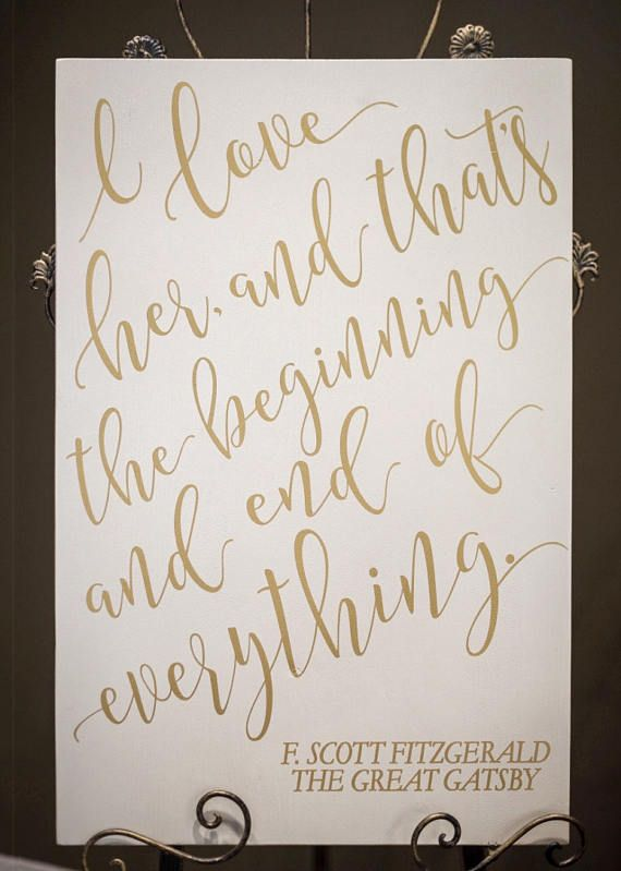 Gatsby wedding sign fitzgerald quote painted wooden wedding decor gatsby wedding sign fitzgerald quote painted wooden wedding decor wedding aisle venue decorations gold and navy or custom item gps600 gatsby junglespirit Choice Image