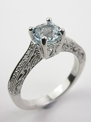 fancy colored filigree engagement ring rg 2567ar
