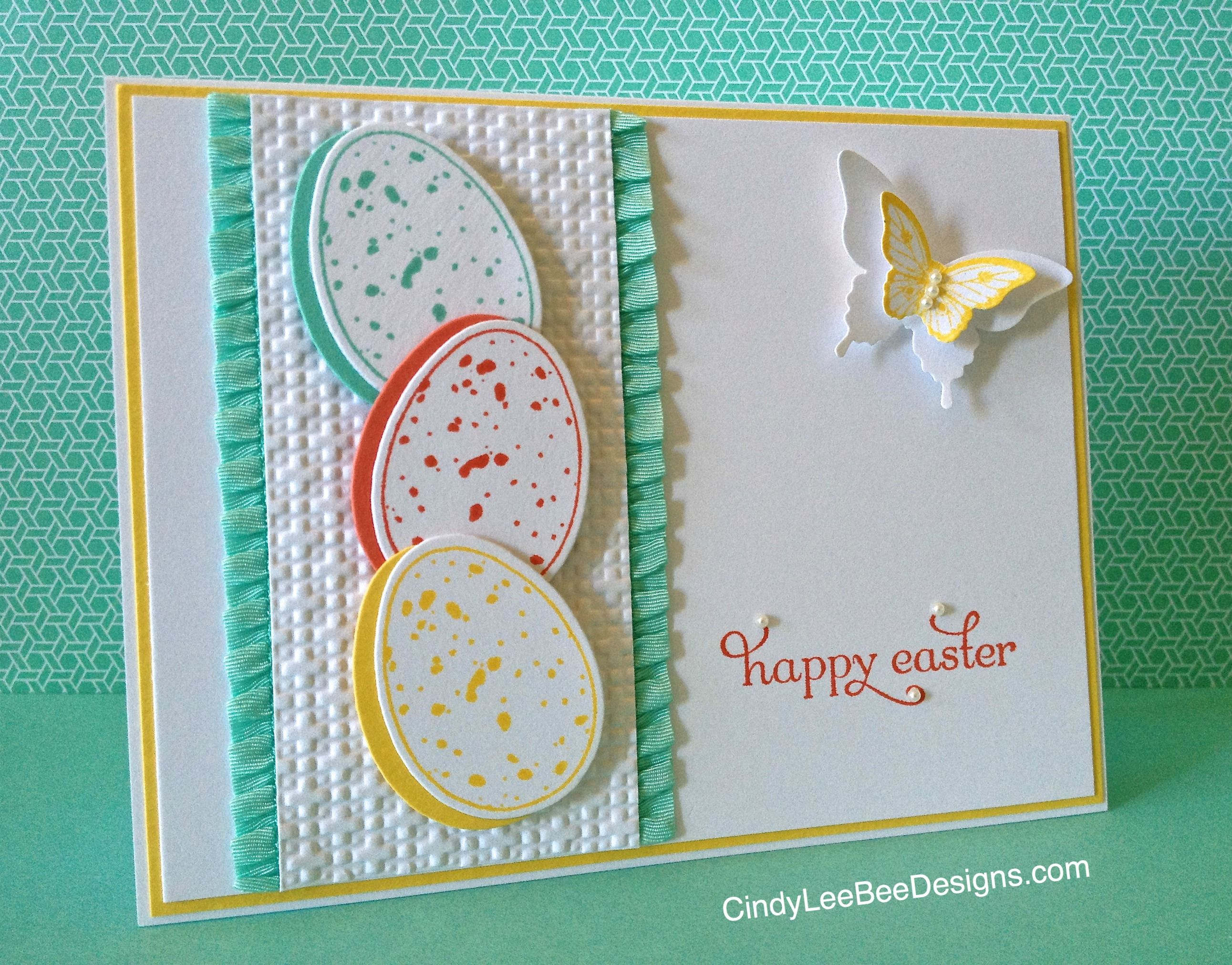 Colourful Easter Eggs Cards easter eastergifts easterideas – Handmade Easter Cards Ideas