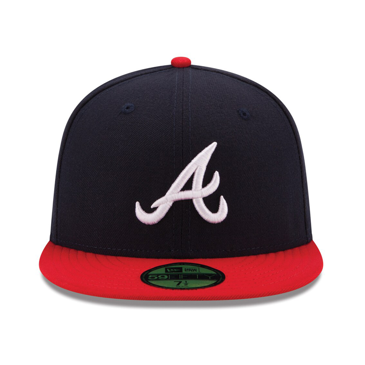 New Era 59fifty Authentic Collection Atlanta Braves On Field Home Hat Navy Red In 2020 Atlanta Braves New Era 59fifty Braves