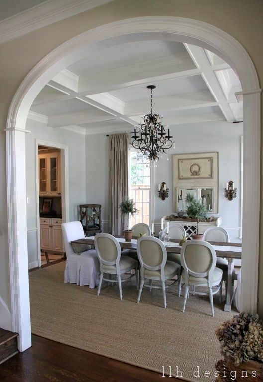 28 Simple Dining Room Ideas For A Stunning Inspiration: Wonderful Arch Entrance To Dinning Room