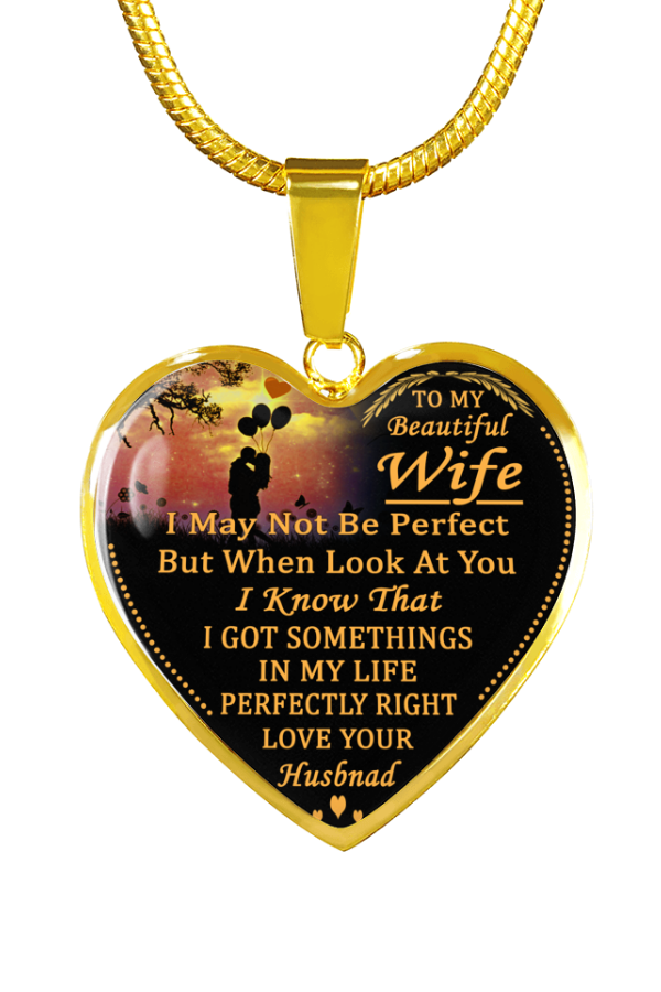 Beautiful To My Wife Necklace From Husband - Best Gift for Birthday Graduation Military Weddingwife giftswife gift ideasgifts for my wife wife ...  sc 1 st  Pinterest & To My Beautiful Wife Love Your Husband Luxury Necklace Birthday ...
