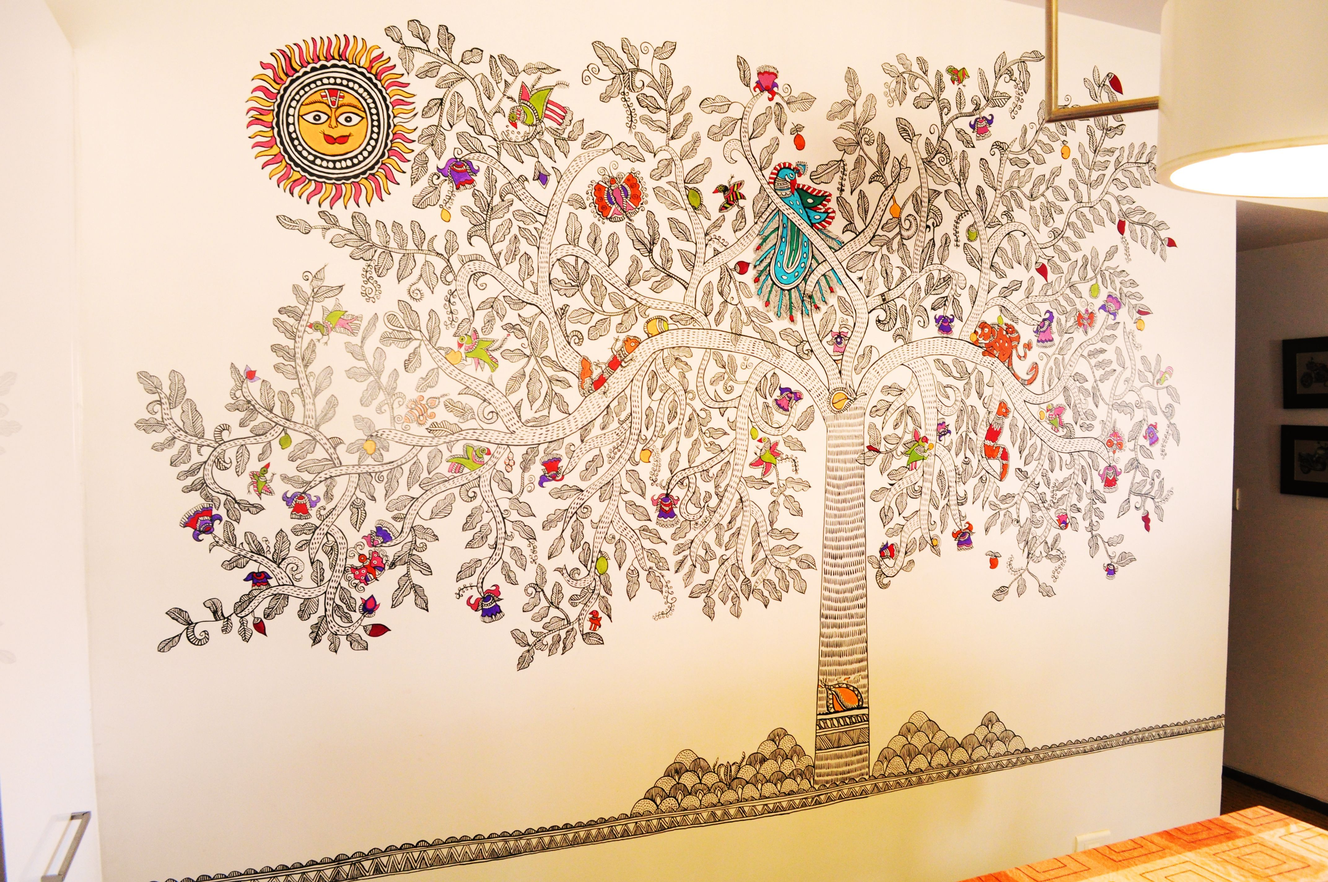 Madhubani wall mural surat gujarat craftcanvas wall art madhubani wall mural surat gujarat craftcanvas amipublicfo Gallery
