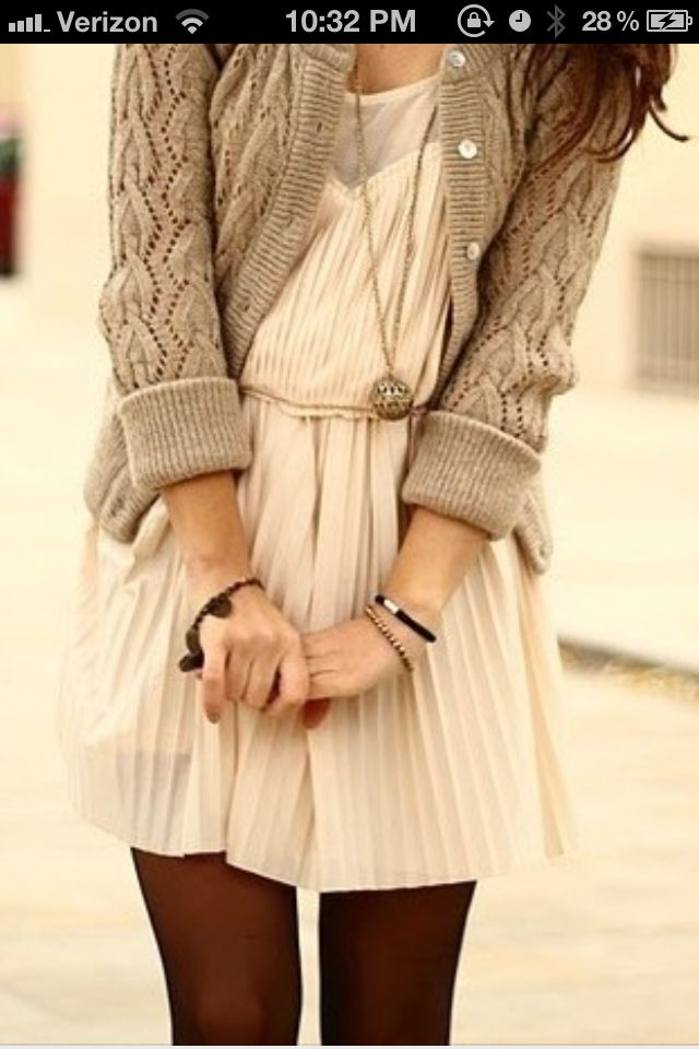 Dress and sweater