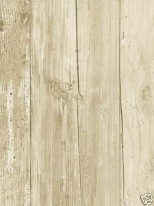 WHITE WASHED FAUX WOOD W/ KNOTS WALLPAPER FK3929