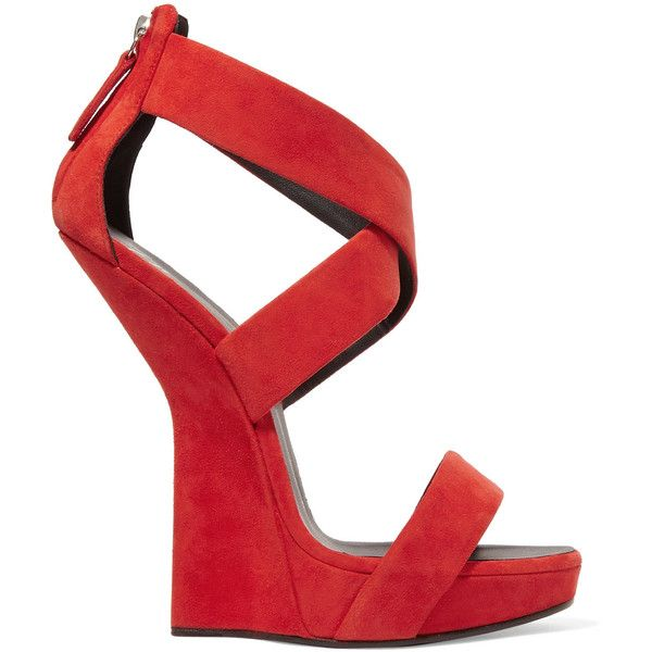 c648fdfa568 Giuseppe Zanotti Red sandals ( 310) ❤ liked on Polyvore featuring shoes