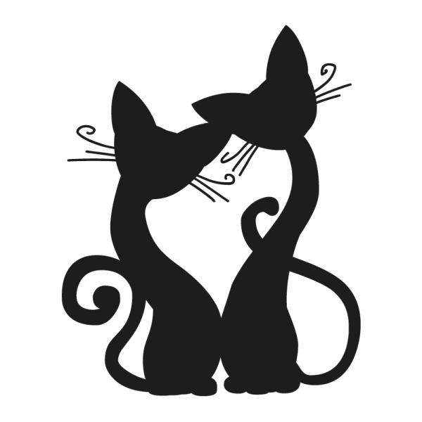 Wandtattoo Katzen Wandprinz Ch Wandtattoo Katze Cartoon Silhouette Katzen Silhouette