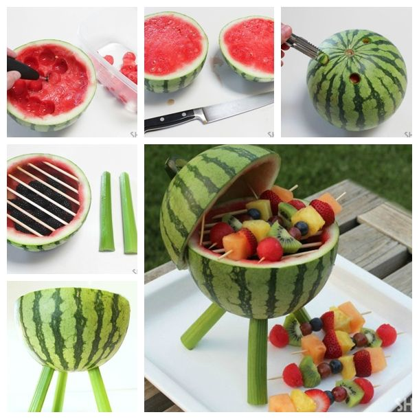 Wonderful diy watermelon basket fruit kabobs healthy