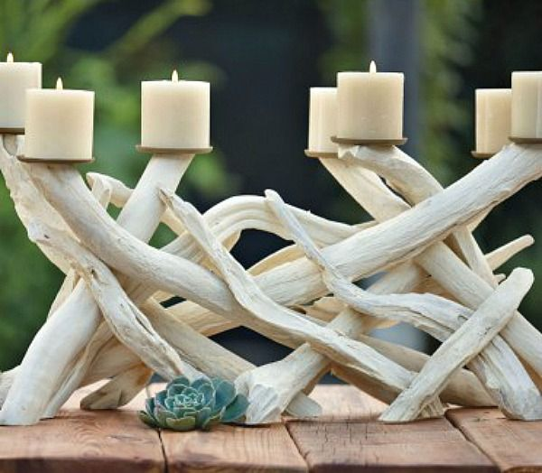Driftwood Candelabra - not a tutorial but a great idea for a DIY coastal project