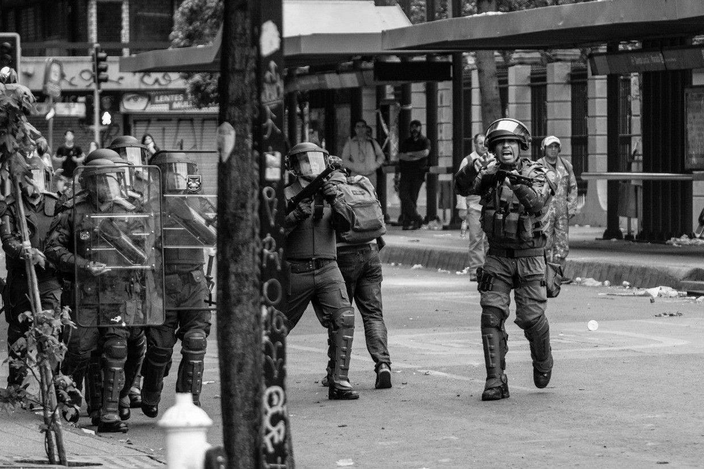 Represión en la calle 24/10/19, Santiago de Chile Registro