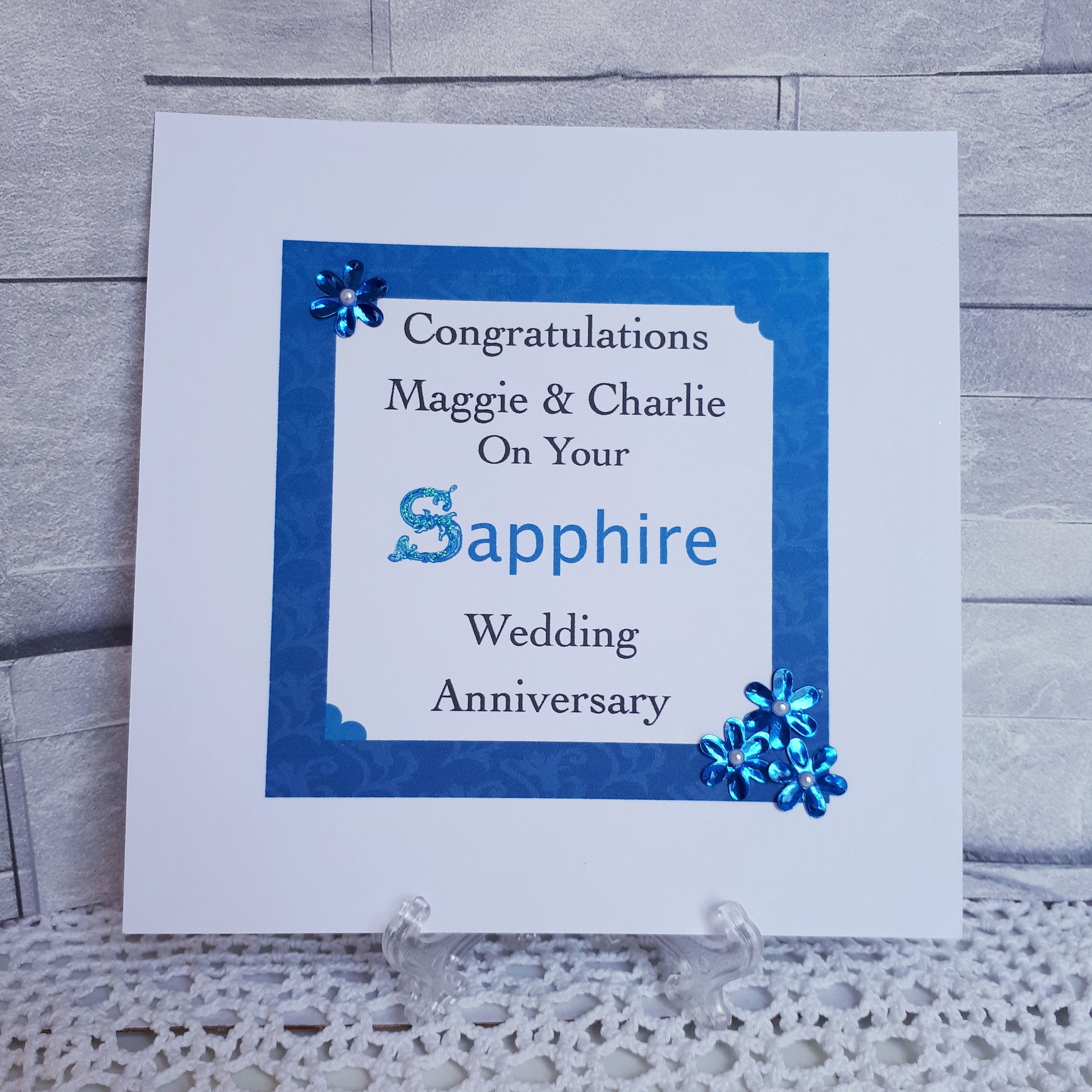 On Your Sapphire 45th Anniversary Card ~ With Best Wishes on your Very Special Day