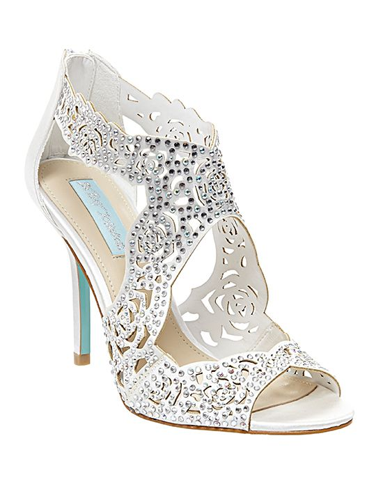 Perfect Man Made Upper Man Made Sole Rhinestone Accents Allover Cutout  Pattern Inch Bridal ShoesWedding