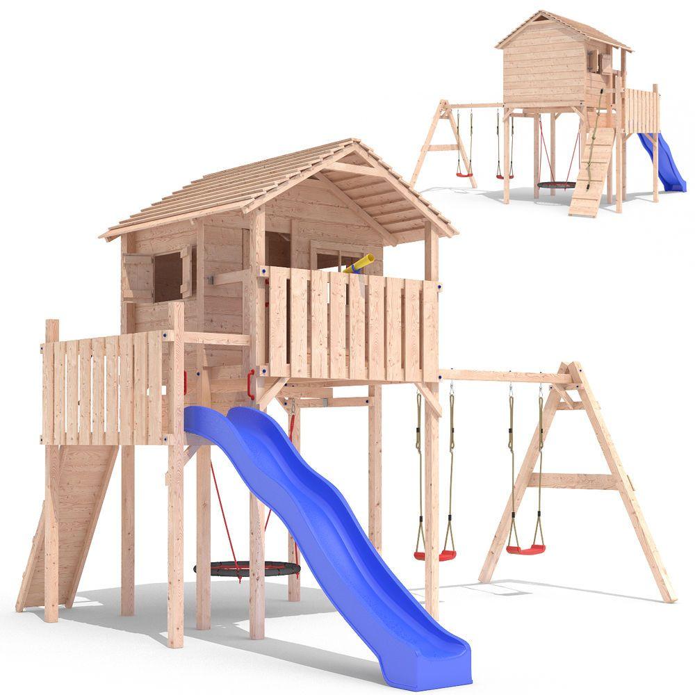 Domizilio Spielturm Stelzenhaus Baumhaus Spielhaus Rutsche Schaukel 2 00m Podest Playgrounds For Sale Play Houses Kids Backyard Playground
