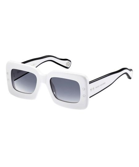 Opposites Attract -- Black and White Accessories: Square sunglasses, $395, MARC JACOBS, marcjacobs.com
