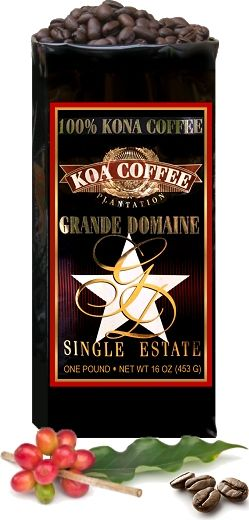 Grande Domaine Kona Coffee is the Grandaddy of Kona Coffees, from trees planted as long ago as 1918. There is no other Kona like this one. It stands alone.