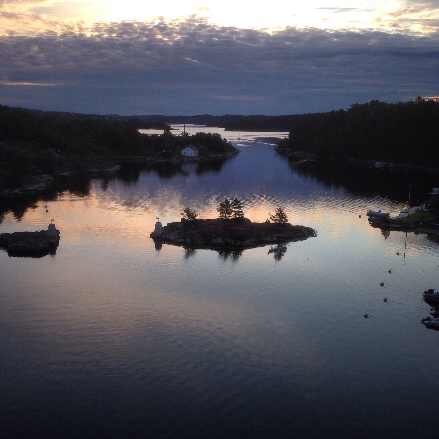 Early summer morning Lillesand Norway