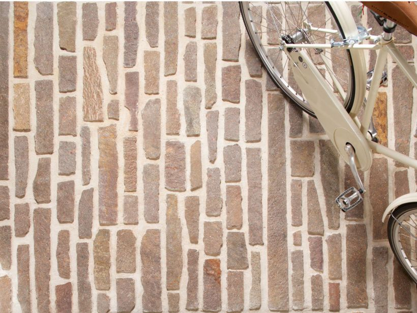 Eco Outdoor Porphyry Filetti Paving And Walls