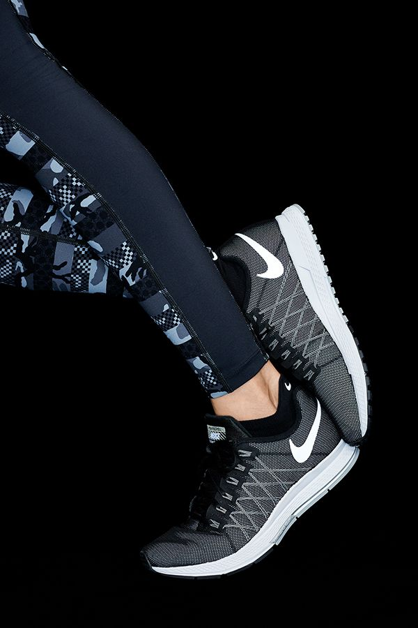 Nike Pegasus black and white runners, Bianca Cheah | Träning