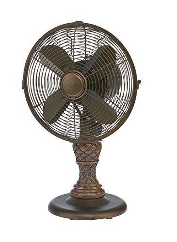 Deco Breeze Dbf6128 Metal Polyresin Collection Picard Table Fan Amazon Best Buy Hometoolsonsale Table Fan Metal Construction Cool Things To Buy