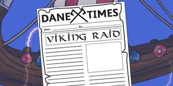 Viking Raid Newspaper Template - vikings, writing, literacy, raid ...