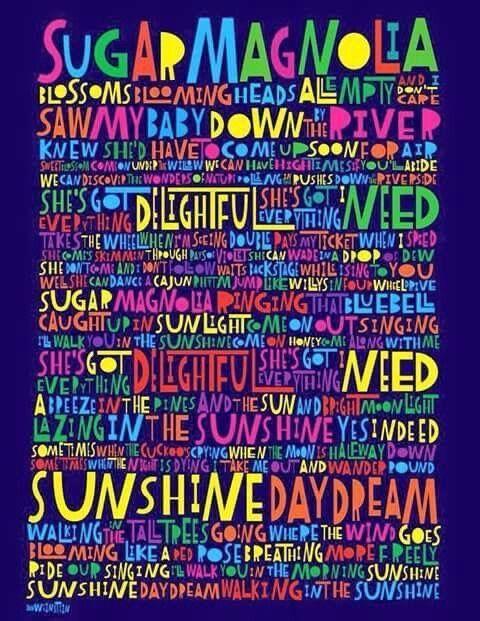 Sugar Magnolia She Grateful Dead Songs Grateful Dead Lyrics