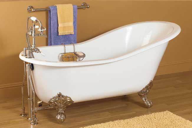 61 Cast Iron Slipper Bathtub Vintage