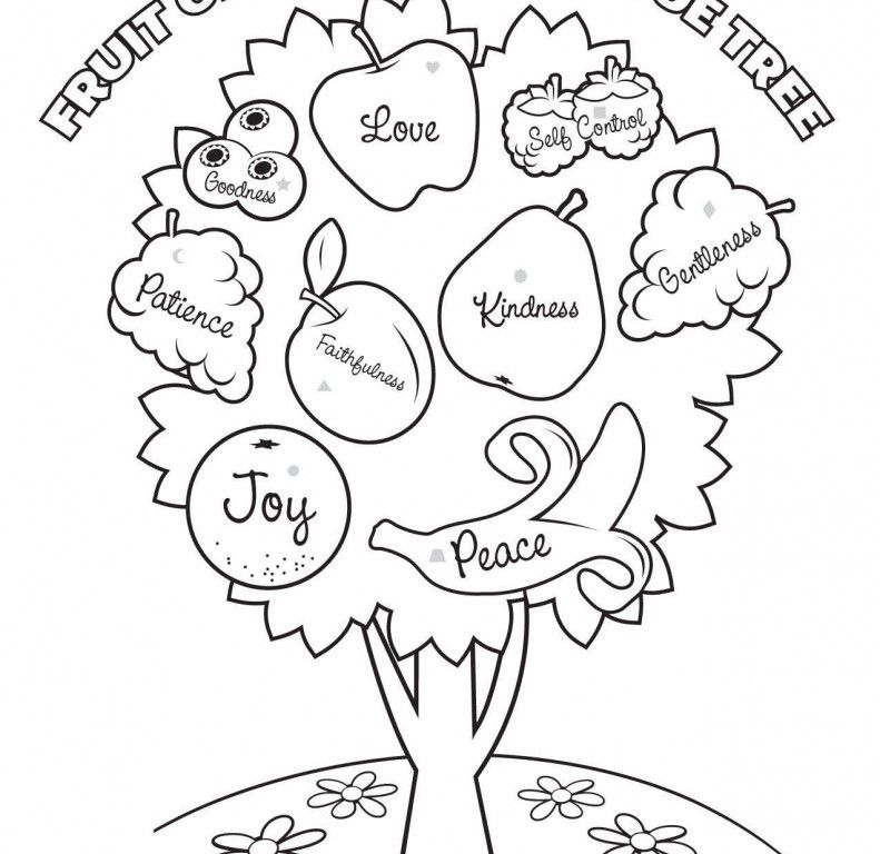 Coloring Page Fig Tree. And Kids Fruit Coloring Pages Fig Picture