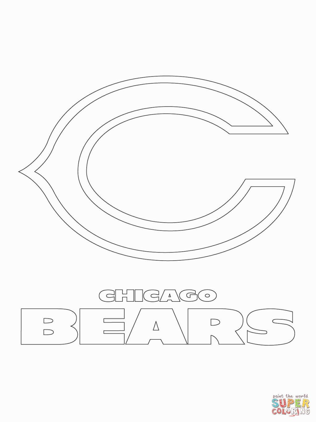 Chicago Bears Coloring Pages Bear Coloring Pages Sports