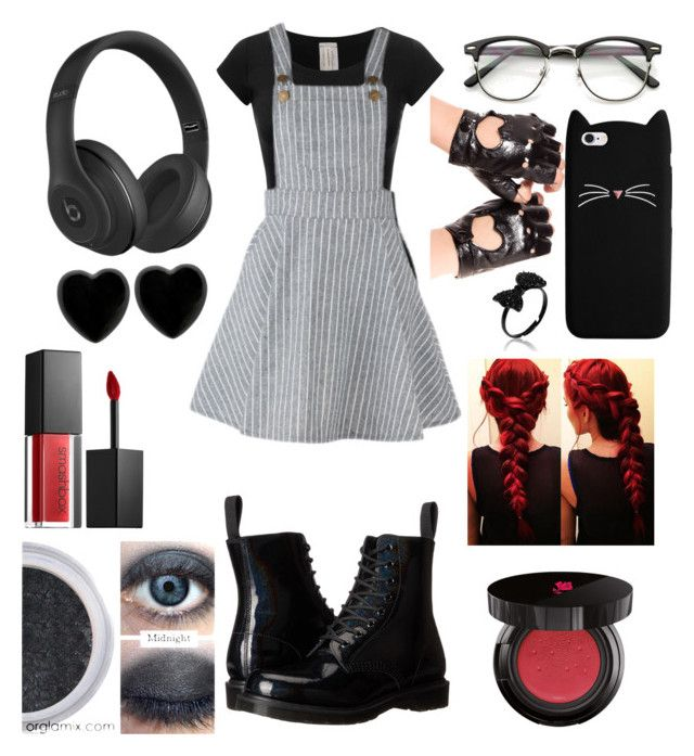 """Untitled #187"" by theghostgirl157 ❤ liked on Polyvore featuring Dr. Martens, Beats by Dr. Dre, Dollydagger, Smashbox and Lancôme"