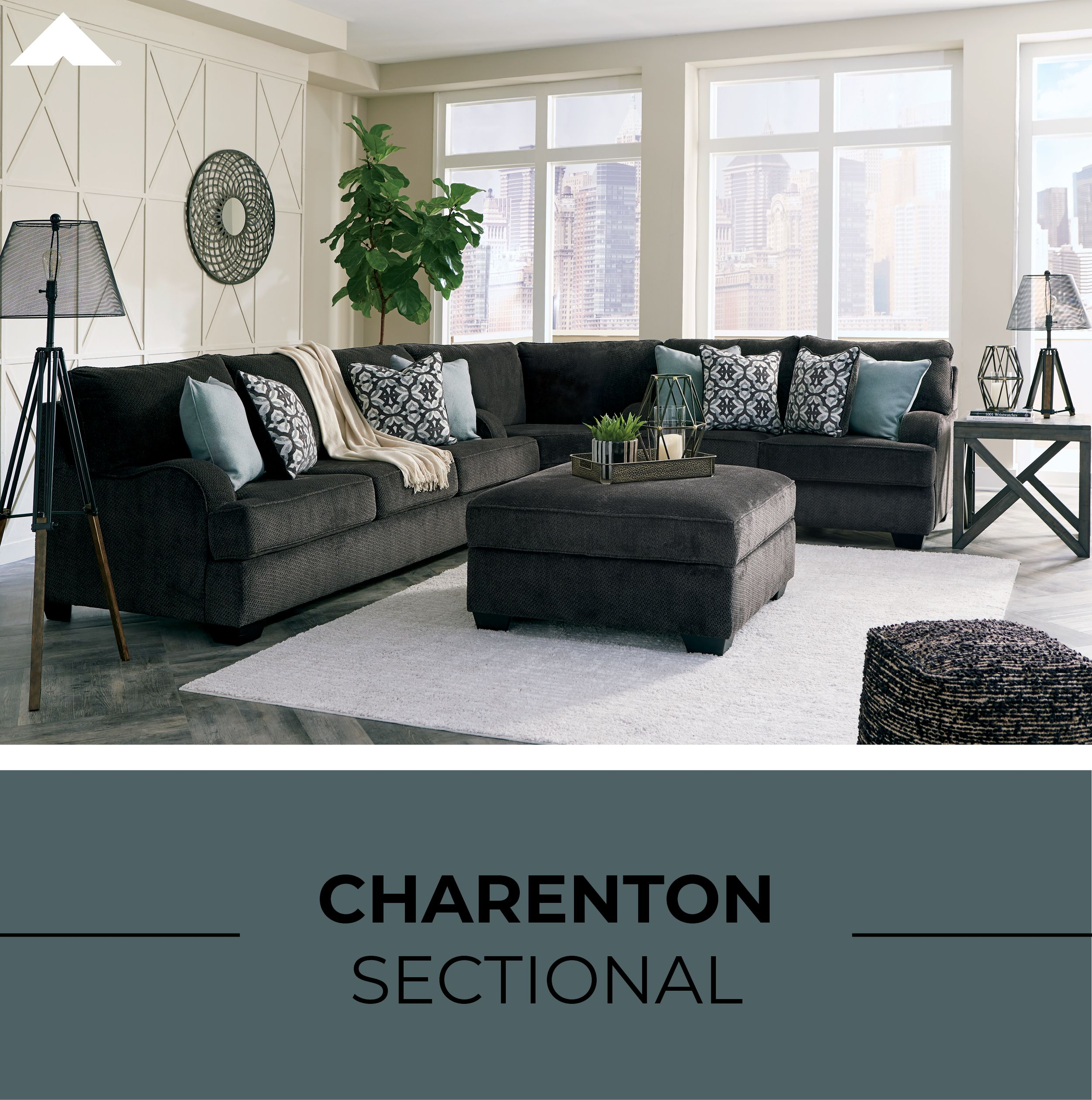 Charenton Charcoal Sectional By Ashley Furniture Ashleyfurniture Homedecor Homedecorinspiration Livingro Furniture Ashley Furniture Sofas Sofa Furniture