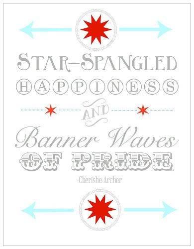 4th of July Printable from Blissful Roots