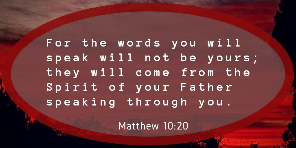Prayer should be Spirit Filled | You are the father, Matthew 10, Spirit