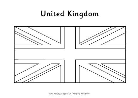 United Kingdom Flag Colouring Page Vlag Vlaggen Engeland