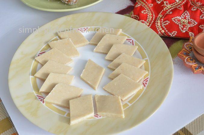 Kaju Katli (cashew nut burfi)